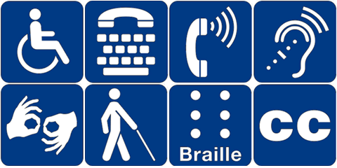 American with Disabilities Act Icons